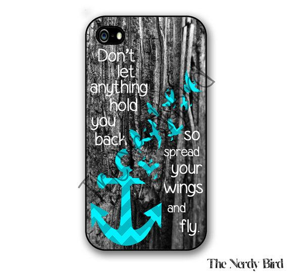 Wooden Background with Turquoise Chevron Anchor with Birds and Quote iPhone 4, 5, 5c and 6 and Samsung Galaxy s3, s4 and s5 Phone Case by TheNerdyBird2 on Etsy https://www.etsy.com/listing/213653031/wooden-background-with-turquoise-chevron