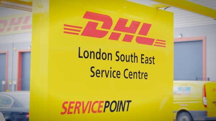 The signage for #DHL in #Lewisham
