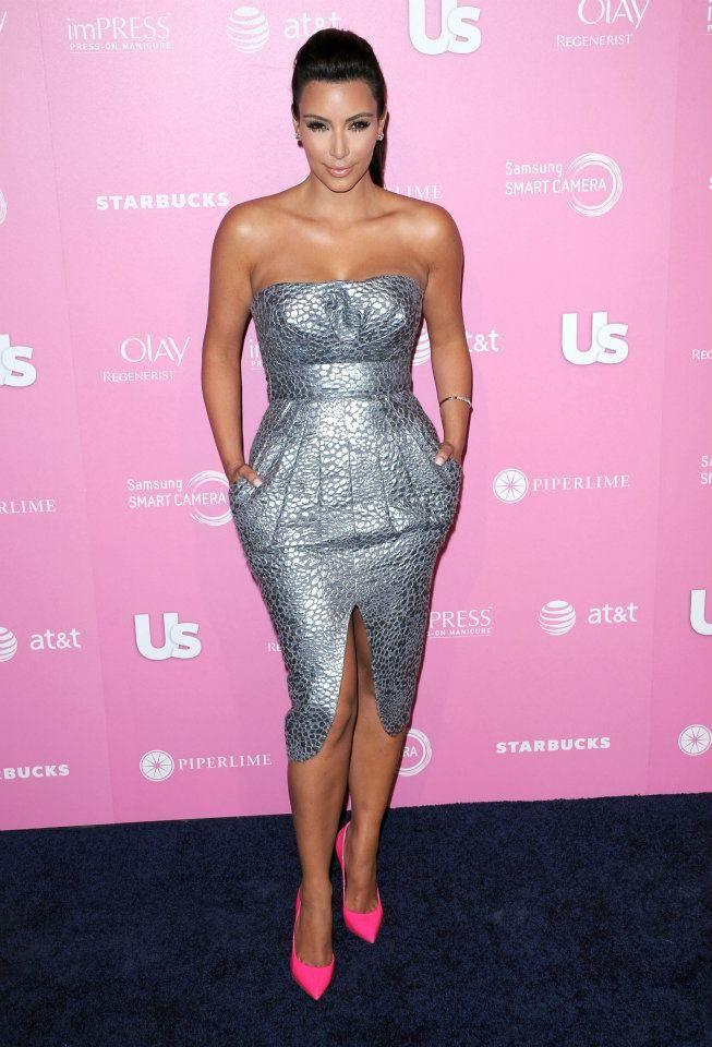 Kim k cocktail dresses pink