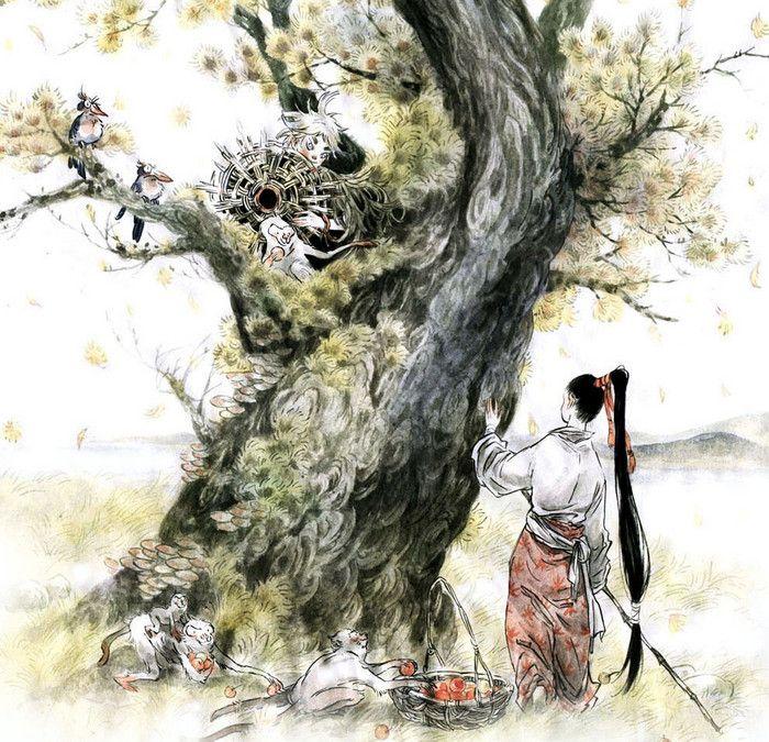 树树秋声-早稻.野兽_插画,水彩_涂鸦王国