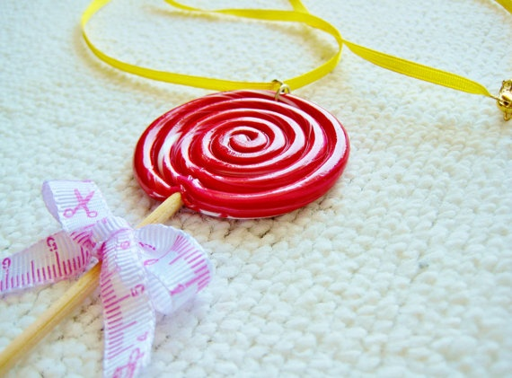 Handmade lollipop necklace