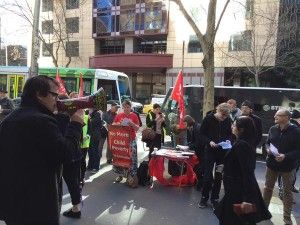 "July 3, 2015 Sauro -""call me, Sam"", is standing in the front row of a line of protesters outside the Melbourne headquarters of Maxx Employment in Collins Street, and wearing a sign that reads 'No C... http://winstonclose.me/2015/07/04/from-little-acorns-the-unemployed-hit-back-written-by-edward-eastwood-aimn/"
