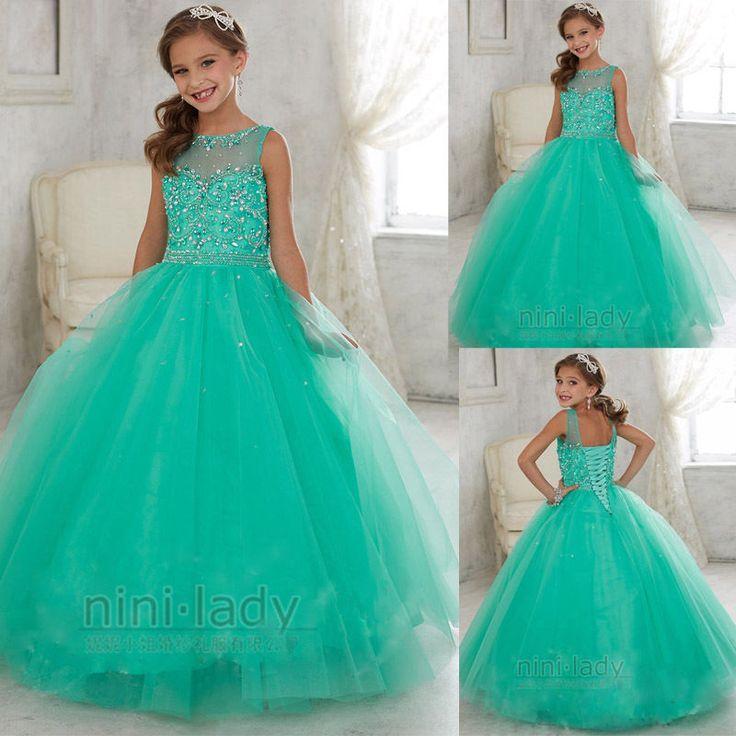Baptême Princesse fille de fleur robe de bal robe de soiréede mariage communion   eBay