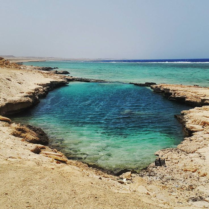 The famous Nayzak in Marsa Alam, Egypt, believed to have been created by a meteor that hit the beach