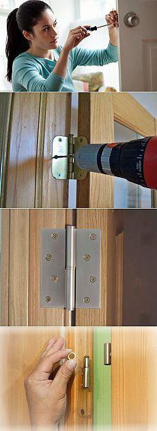 Как починить просевшую дверь своими руками | Ремонт квартиры своими руками