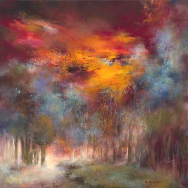 "Saatchi Online Artist Rikka Ayasaki; Painting, ""Passions-Boulogne forest 7020"" #art"