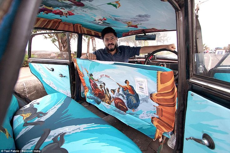 Technicolour taxis in India decorated with stunning artwork http://www.dailymail.co.uk/travel/travel_news/article-3449602/Pimp-ride-Inside-India-s-technicolour-taxis-decorated-artwork-stunning-ve-featured-Coldplay-video.html