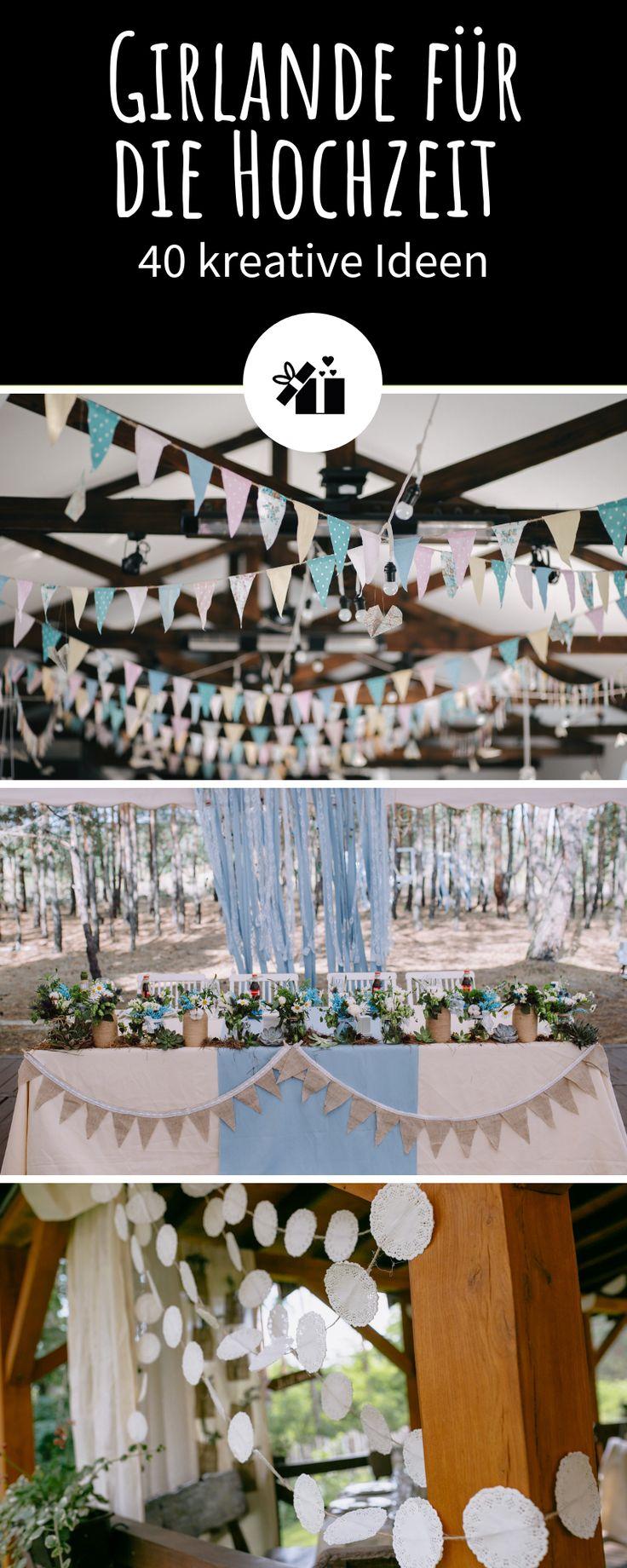Girlande und Wimpelkette für die Hochzeit - 40 kreative Ideen