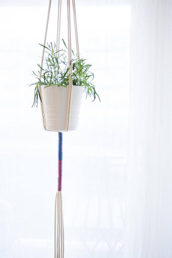 Tangerine Plant Hanger Pink/Blues