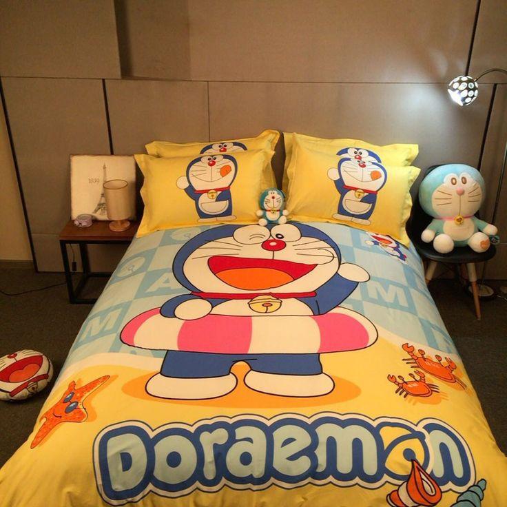 Doraemon anime comforter duvet cover set bed bedding set