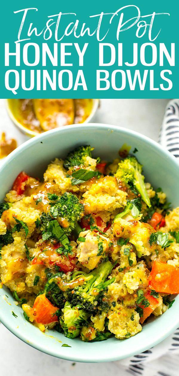 Instant Pot Honey Dijon Chicken Quinoa Bowls Eating Instantly Instant Pot Quinoa Recipes Honey Dijon Chicken Instant Pot Dinner Recipes