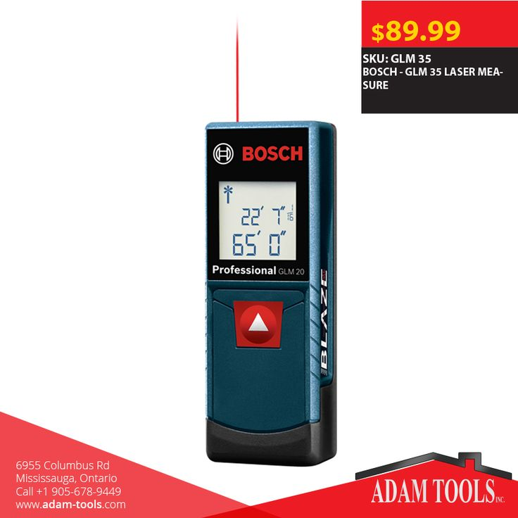If you are looking for a simple and almost full featured laser measure, check out the new Bosch - GLM 35 LASER MEASURE! http://www.adam-tools.com/glm-35-laser-measure.html #canada #mississuaga #power_tools #building_supplies #adamtools #shop_online #buy_online #BoschTool #Powertools #tools #Boschtools #Lasermeasure