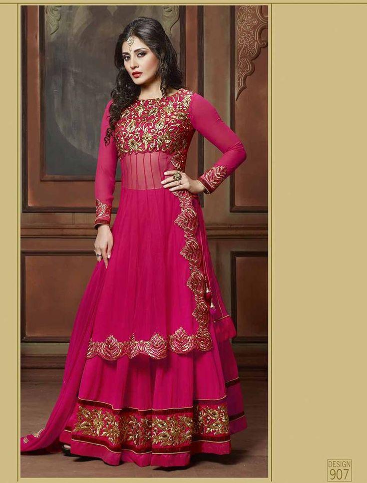 Designer Anarkali Salwar Kameez available online at Mirraw.