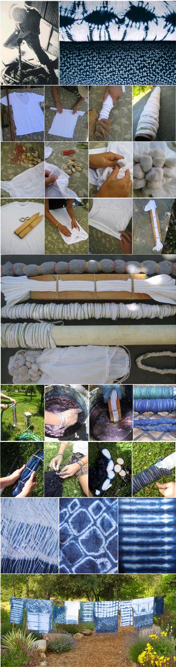 DIY Shibori http://www.dharmatrading.com/information/shibori-diy.html