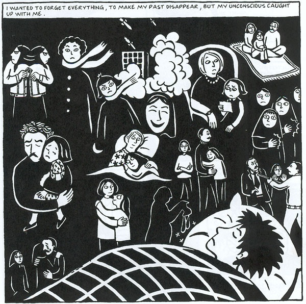 cultural acceptance in marjane satrapis persepolis Throughout persepolis, marjane satrapi displays the vital role that the women around her have in developing her character and becoming the woman she is today women such as her mother, her grandmother, her school teachers, the maid, the neighbors, and even the guardians of the revolution.
