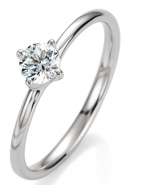 375 Weissgold Verlobungsring Gold mit Diamant - Ring zur Verlobung Diamant mit Brillant by verlobungsring .de #love #joy #wedding