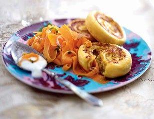 Indische Kartoffelschnecken mit Möhrensalat Rezept - Chefkoch-Rezepte auf LECKER.de | Kochen, Backen und schnelle Gerichte