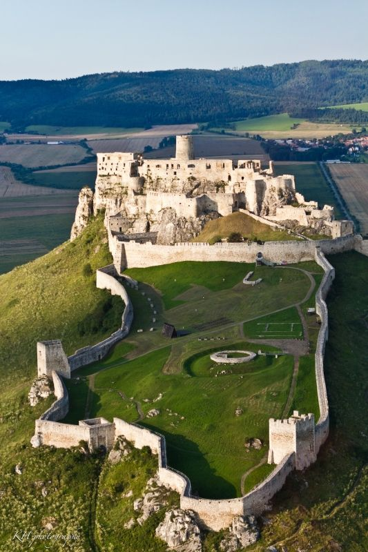 Spiš Castle - built in the 12th century and located in eastern Slovakia in the Košice region, it is one of the largest castle sites in Central Europe and one of the biggest European castles by area (41,426 m²). In 1993 it was included in the UNESCO list of World Heritage Sites.