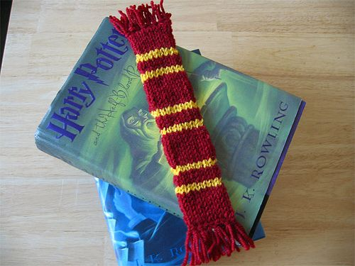 Ravelry: Harry Potter Double Knit Bookscarf pattern by Jennifer Tallapaneni