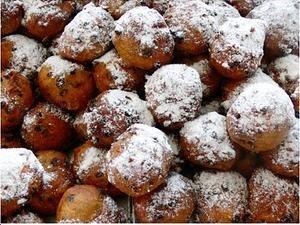 Oliebollen - fried dough, Netherlands