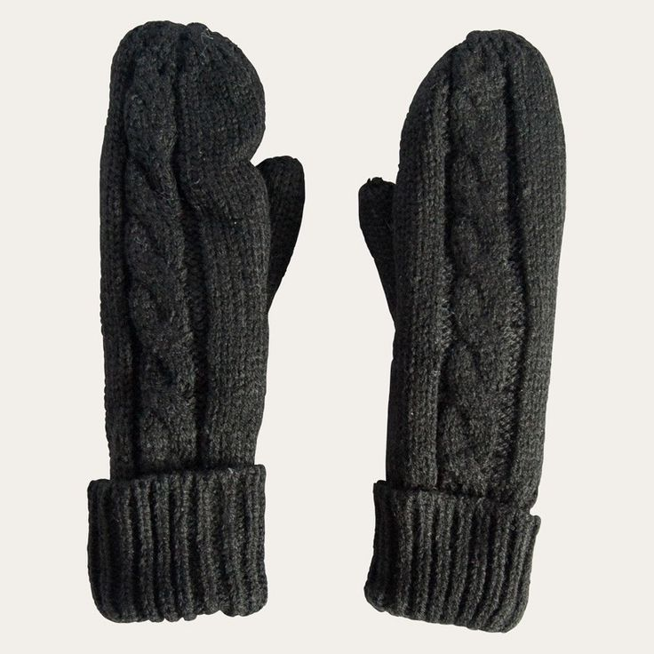 Redcurrent - Redcurrent Cable Knit Mittens With Fur | Redcurrent - online, homewares, gifts for women, Ecoya, New Zealand