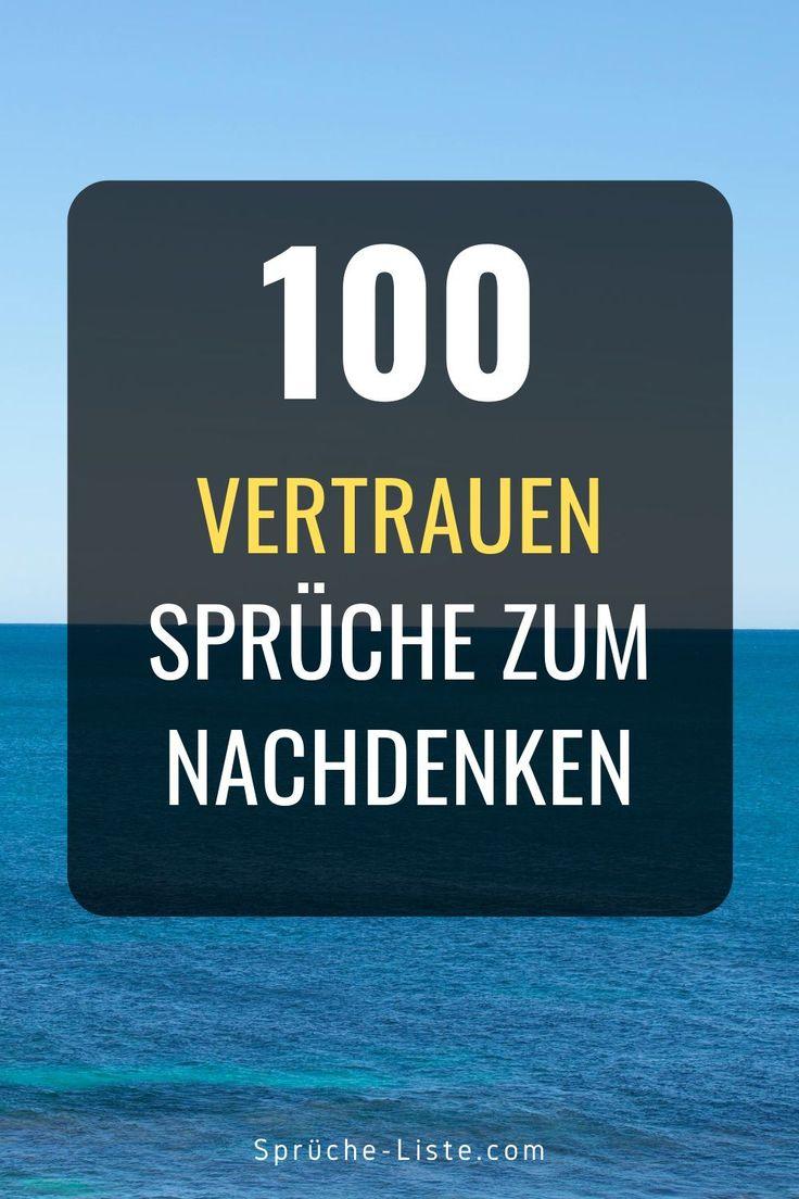 100 Vertrauen Sprüche zum Nachdenken | Vertrauen sprüche