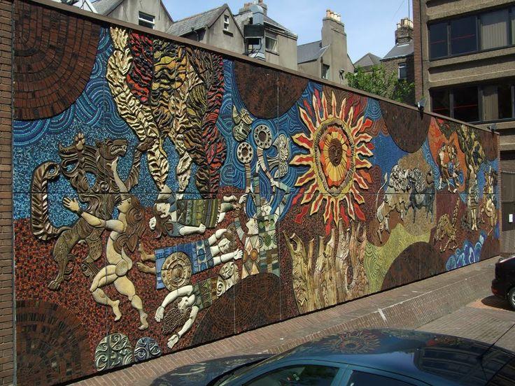 Desmond Kinneyu0027s 1974 Mosaic Mural:The Setanta (or Táin) Wall   Fantasy Wall Part 93