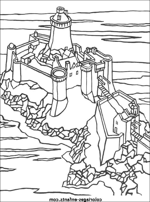 Coloriage Chateau Fort A Imprimer Dessinchateau Art Humanoid