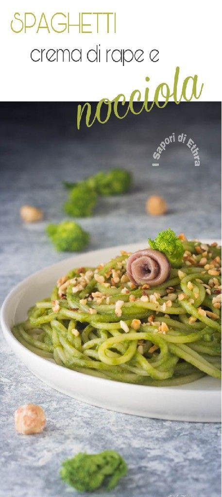 Un primo piatto dal sapore unico gli Spaghetti con crema di rape e nocciola #spaghetti #food #madeinitaly