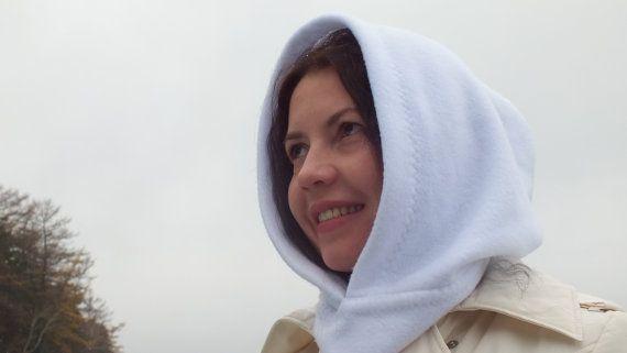 Fleece hooded scarf  Fleece hat  Fleece hood  от MayorovaStyle