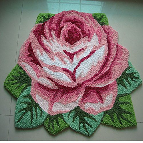 Ustide Modern Style Rug Soft Rose Rug Handmade Rug Anti-Slip Area Carpet Living Room Rug Kitchen Mats Bedroom Rug 3×2 #handmade The rose rug has high quality, floral shaped design,suites for doorway,bathroom,living room,bedroom,coomputer desk,home office.   Use about 30 degrees below the water cleaning, neutral detergent cleaning, cleaning after dehydratioand gently shake the fluffy, outdoor dry, avoid direct sunlight exposure.   We provide the best service,and hope our rug let your ..