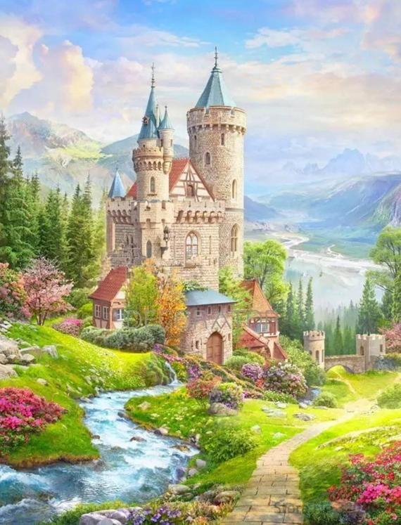 Medieval Castle Paint By Numbers Kit Diy Fast Shipping In 2020