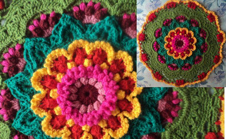 Коврик крючком  #crochet_carpet #crochet #crochet_acsessories