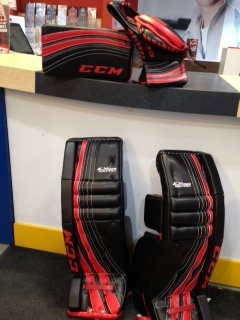 CCM Extreme Flex custom goalie gear made for a customer.  You would like to order your own custom set? Visit the nearest Megastore for more details. http://www.prohockeylife.com