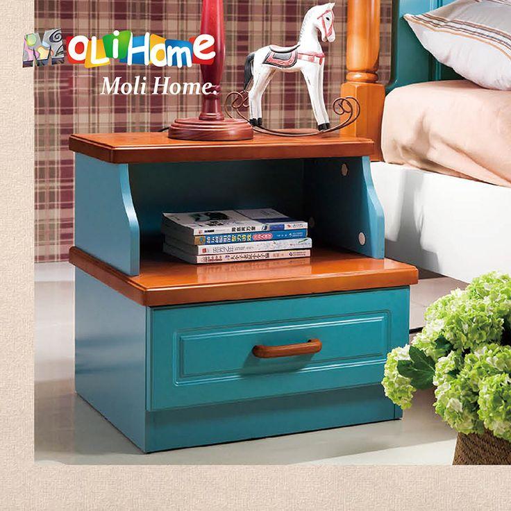Небольшая детская тумба синего цвета с коричневой крышкой и полкой купить в интернет-магазине мебели https://lafred.ru/catalog/catalog/detail/40955869598/