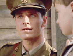 I find literally everyman in uniform so freakinggg hott!Micheal Fassbender in Bear Named Winnie (2004)