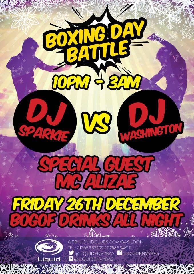 BOXING DAY BATTLE: DJ SPARKIE Vs DJ WASHINGTON 26.12.2014