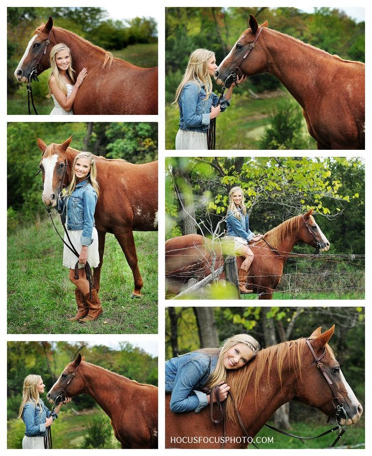 Senior picture with horse - Only if Smarty would do that haha