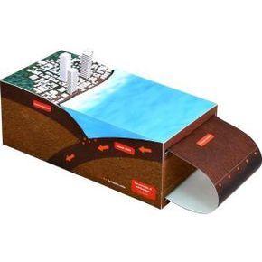 Teoría de los terremotos,Ciencia,Arte de papel,terremoto,Mar,Placa,Edificio