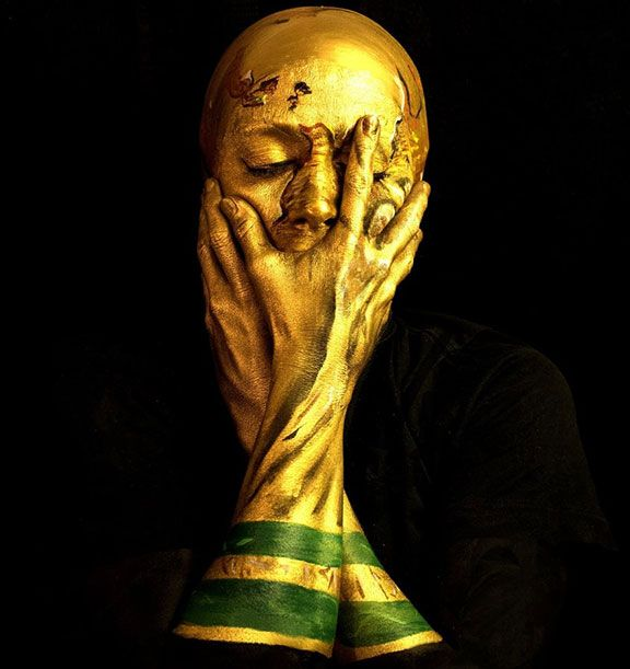 World Cup Trophy Portrait