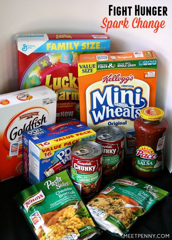 3 Ways to Feed Hungry Children - Fight hunger. Spark change. Buy participating products at Walmart and make a difference in the ministry of your local food bank. Feed hungry children. #Shop2Give #WeSparkChange #ad