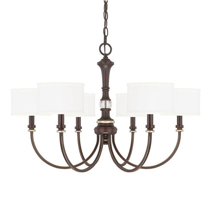Capital Lighting 414961-660 Asher 6 Light 1 Tier Chandelier Champagne Bronze Indoor Lighting Chandeliers