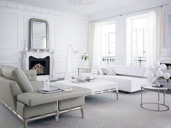 White living room design photo white grey sofas living room design