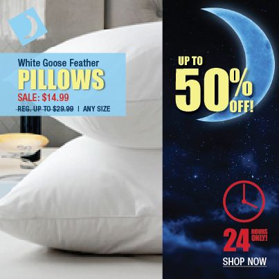 Our premium medium support white goose feather pillow ... made exclusively for Beddington's  ... will cradle your head in comfort.  This pillow is ideal for side sleepers.    Hurry shop now the sale ends at 4pm tomorrow!   #Sale #Pillows #Bedding #Beddingtons #HomeDecor