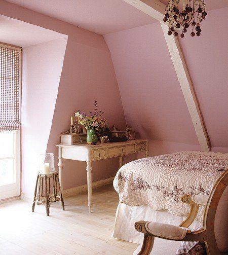 Pink bedroomLady Room, Romantic Bedrooms, Attic Bedrooms, Soft Pink, Pastel Pink, Pink Room, Pink Bedrooms, Bedrooms Decor Ideas, Bedrooms Ideas