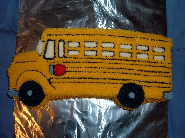 school bus cake images | ... attempt at a School Bus cake. I made it for my son to take to school