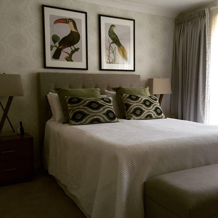 Master Bedroom - Large artwork above bed Designed by Brisbane Based Interior Designer Decorator Kim Black Design www.kimblack.com.au