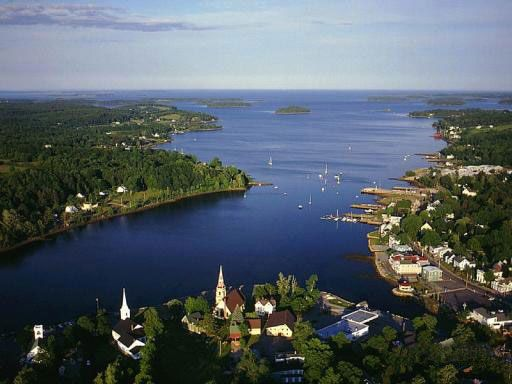 Mahone Bay, NS. Many happy memories here of sitting by the water, finding pewter mussel shell necklaces and eating LaHave's potato bread.