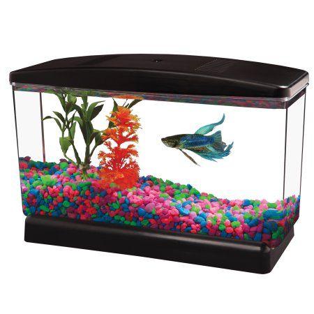 """Aqua Culture BettaView Aquarium .5 Gallon, 9.75""""L x 3.80""""W x 6.25""""H"""