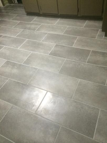 12 in x 24 in coastal grey resilient vinyl tile flooring for Stick on linoleum floor